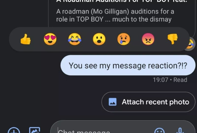 Google testing iMessage-like emoji reacts for RCS messages ...
