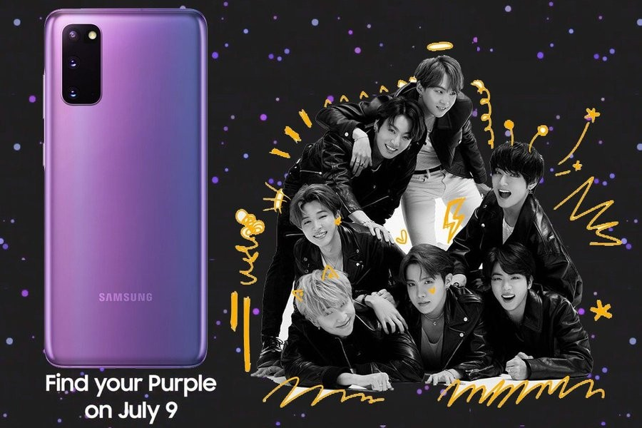 This Is Purple Bts Edition Galaxy S20 Galaxy Buds Coming July 9 Updx2 Render Mobilescout Com