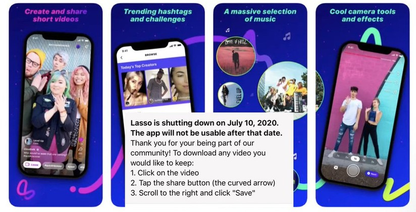 Facebook shuts down TikTok clone Lasso in less than 2 years of ...
